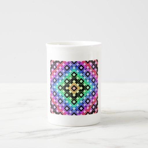 Diamante Taza De Porcelana
