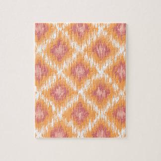 Diamante tribal abstracto anaranjado Pattrn de Puzzle