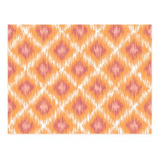 Diamante tribal abstracto anaranjado Pattrn de Postales