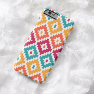 Diamante tribal azteca anaranjado Pattrn de Ikat Funda Para iPhone 6 Barely There