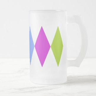 Diamante triple taza cristal mate