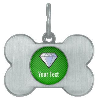 Diamante verde placa mascota