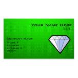 Diamante verde plantilla de tarjeta de negocio