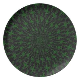 Diamante verde plato de comida