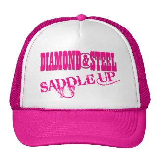 Diamante y acero - gorra del camionero de las seño