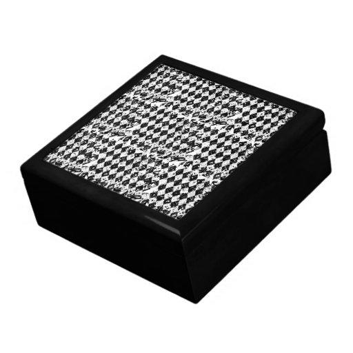 Diamantes abstractos negros y blancos cajas de regalo
