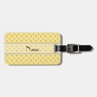 Diamantes amarillos en colores pastel conocidos pe etiqueta para equipaje