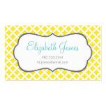 Diamantes amarillos plantillas de tarjetas personales