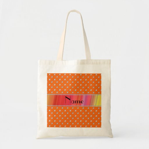 Diamantes anaranjados conocidos personalizados bolsa tela barata