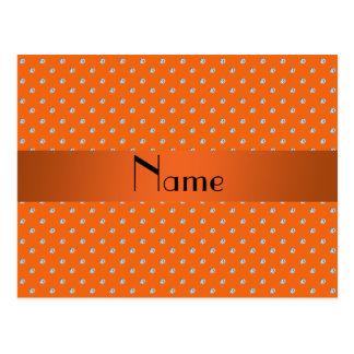 Diamantes anaranjados conocidos personalizados tarjetas postales