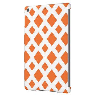 Diamantes anaranjados en blanco funda para iPad air