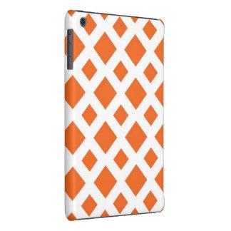 Diamantes anaranjados en blanco fundas de iPad mini