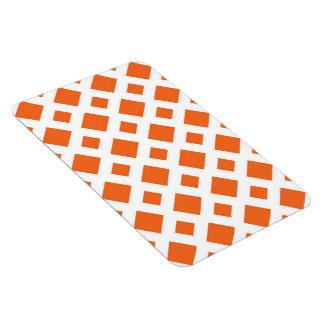 Diamantes anaranjados en blanco iman de vinilo