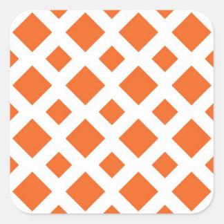 Diamantes anaranjados en blanco colcomania cuadrada