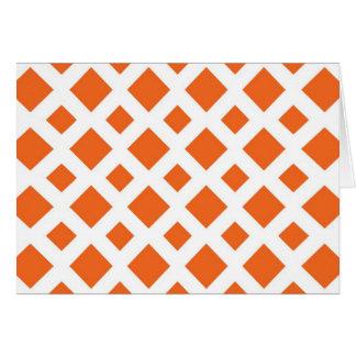 Diamantes anaranjados en blanco tarjeta de felicitación