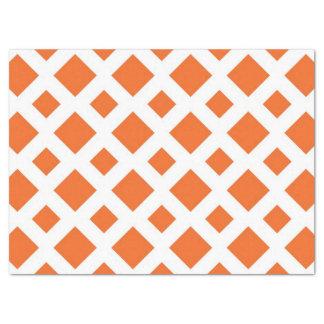 Diamantes anaranjados en el papel seda blanco papel de seda grande