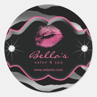 Diamantes animales de los labios del rosa de los g etiquetas