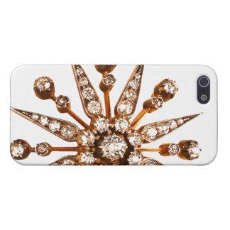 Diamantes artificiales de la bisutería del vintage iPhone 5 fundas