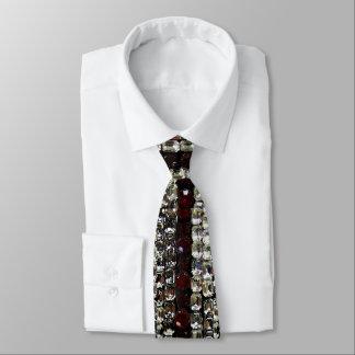 Diamantes artificiales - rojo y blanco corbatas personalizadas
