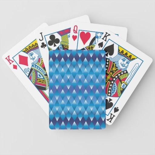 Diamantes azules abstractos barajas de cartas