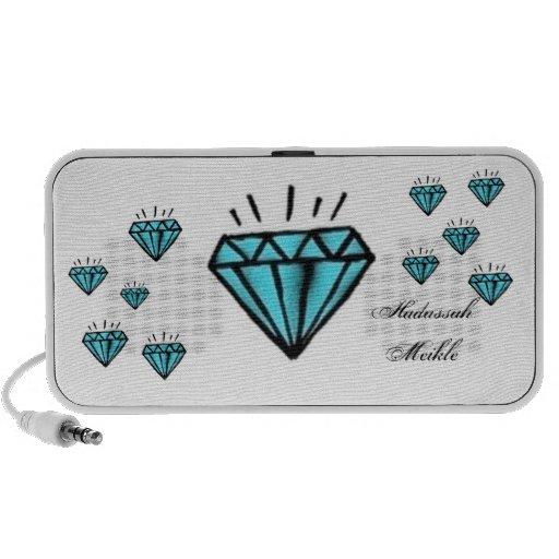 Diamantes azules altavoz de viaje