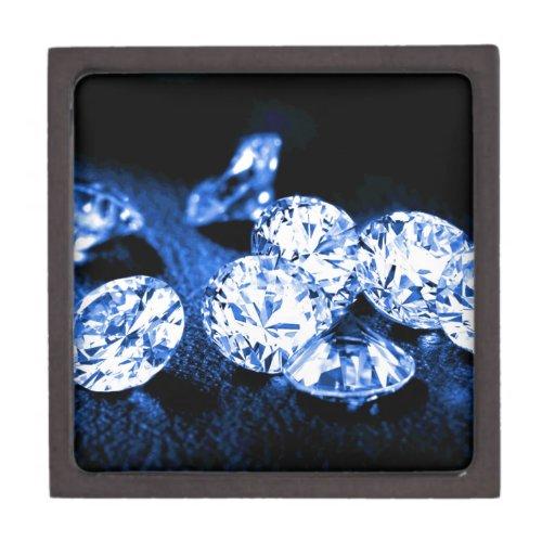 Diamantes azules caja de joyas de calidad