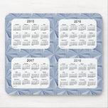 Diamantes azules calendario Mousepad de 4 años Alfombrilla De Ratones