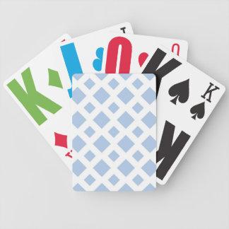 Diamantes azules claros en blanco baraja cartas de poker