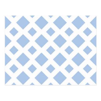 Diamantes azules claros en blanco postales