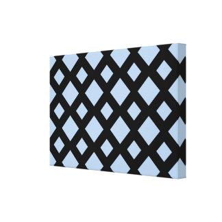 Diamantes azules claros en negro lienzo envuelto para galerías
