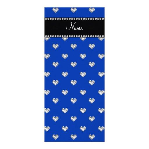 Diamantes azules conocidos personalizados del cora plantilla de lona