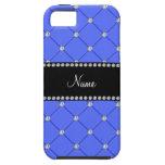 Diamantes azules conocidos personalizados del pena iPhone 5 funda