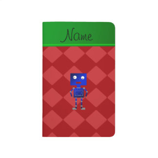 Diamantes azules conocidos personalizados del rojo cuadernos