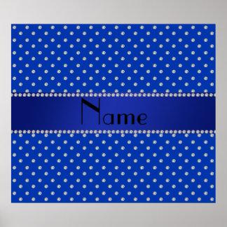 Diamantes azules conocidos personalizados póster