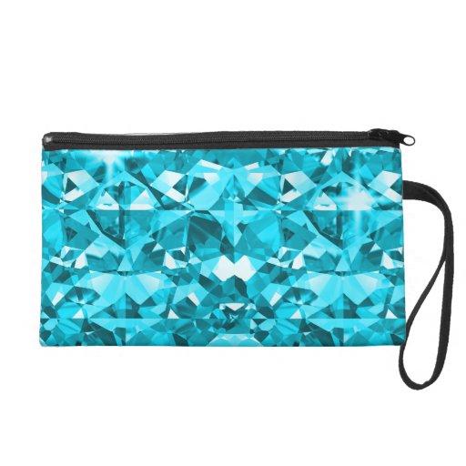 Diamantes azules de Bling de la aguamarina