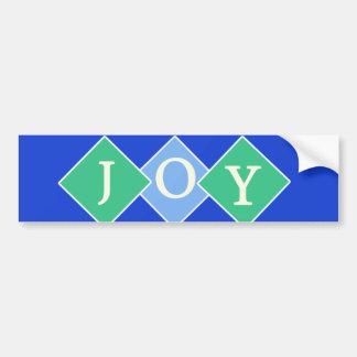 Diamantes azules de la pegatina para el parachoque etiqueta de parachoque