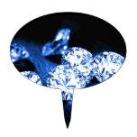 Diamantes azules figura para tarta