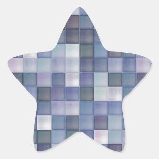 Diamantes azules pegatina en forma de estrella