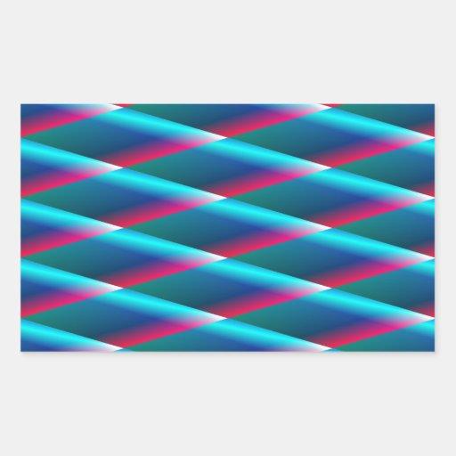 Diamantes azules pegatina rectangular