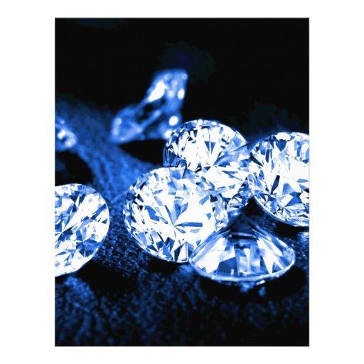 Diamantes azules plantillas de membrete