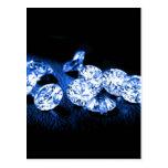Diamantes azules postal
