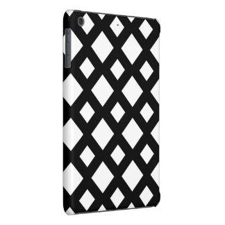 Diamantes blancos en negro funda de iPad mini