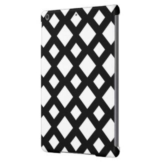 Diamantes blancos en negro funda para iPad air