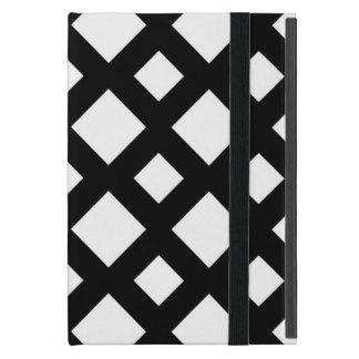 Diamantes blancos en negro iPad mini funda