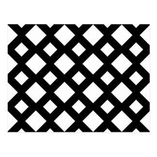 Diamantes blancos en negro tarjetas postales