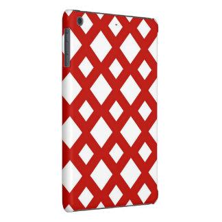 Diamantes blancos en rojo funda de iPad mini