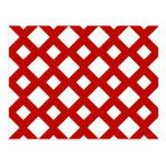 Diamantes blancos en rojo tarjetas postales