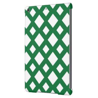 Diamantes blancos en verde funda para iPad air