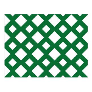 Diamantes blancos en verde postal