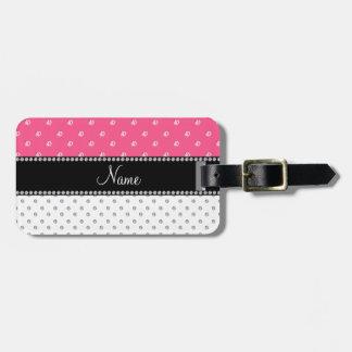 Diamantes blancos y rosados conocidos personalizad etiquetas para equipaje